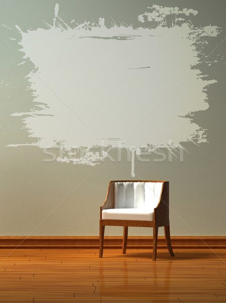 Stock photo: Alone chair  in minimalist interior