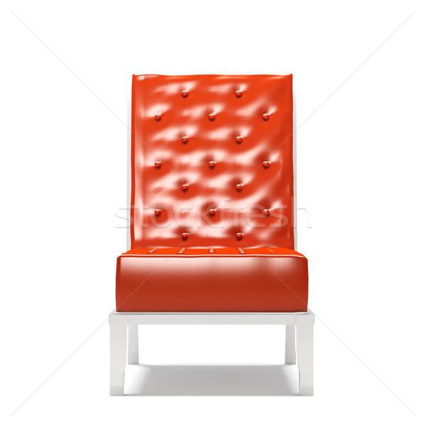 Сток-фото: современных · кресло · изолированный · белый · аннотация · дизайна