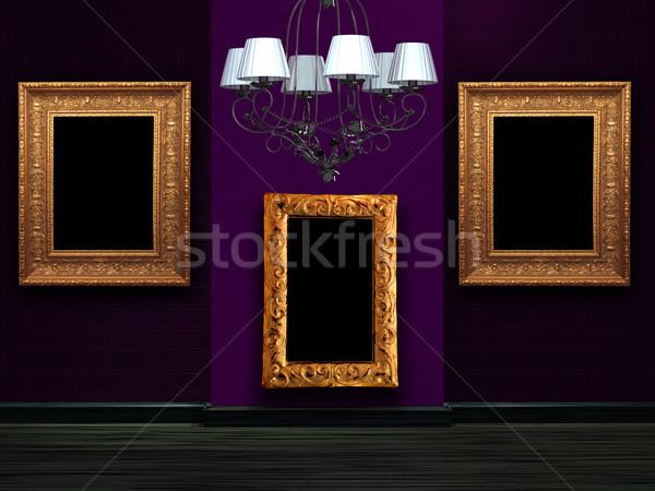 пусто стены роскошь люстра домой стекла Сток-фото © sommersby