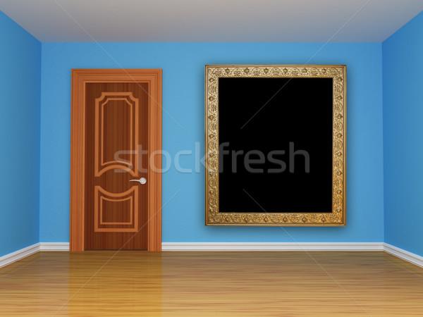 blue empty room with door  Stock photo © sommersby