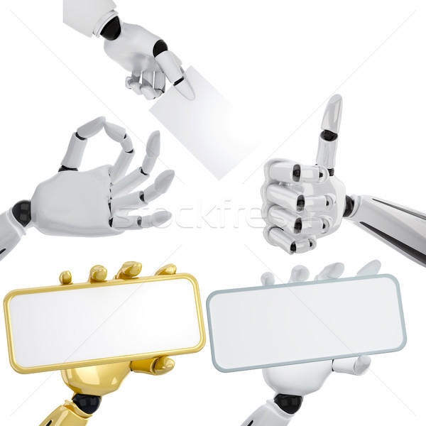 set of robotic hands Stock photo © sommersby