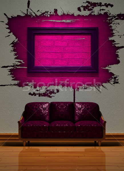 Minimalist interior visualization. Stock photo © sommersby