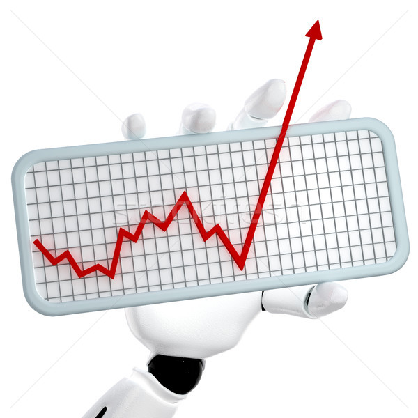 The graph going up Stock photo © sommersby