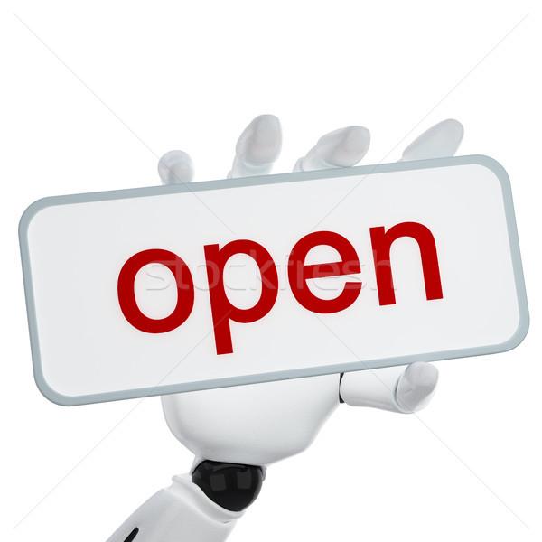 Сток-фото: приветствую · стороны · пластина · открытых