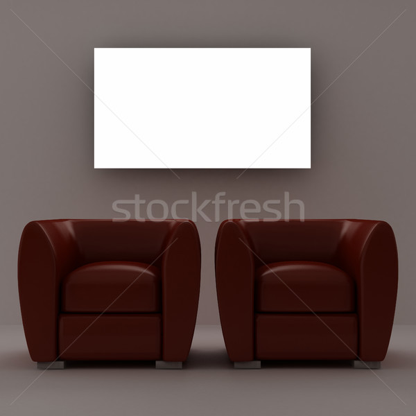 Two red armchairs Stock photo © sommersby
