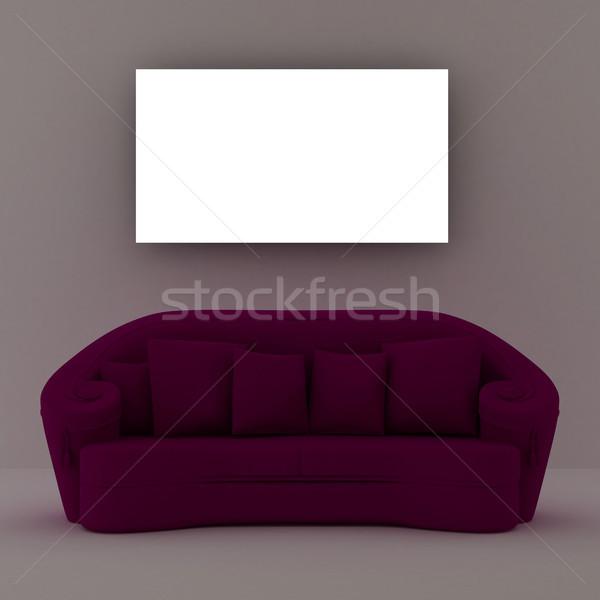 диван место стены свет дизайна комнату Сток-фото © sommersby