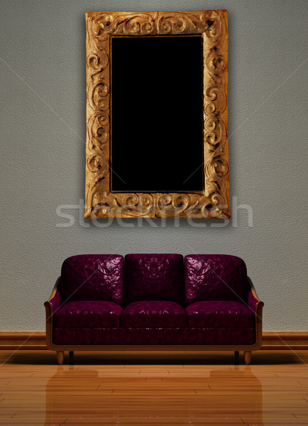 Minimalist interior visualization. Stock photo © sommersby