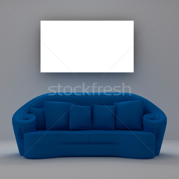 Blue sofa Stock photo © sommersby