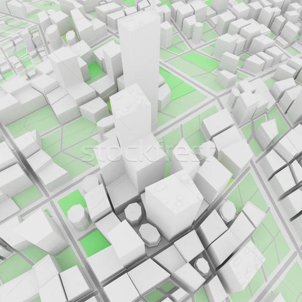 Résumé urbaine bâtiment ville fond Skyline Photo stock © sommersby
