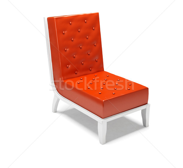 Stock photo: Modern armchair isolated on white background