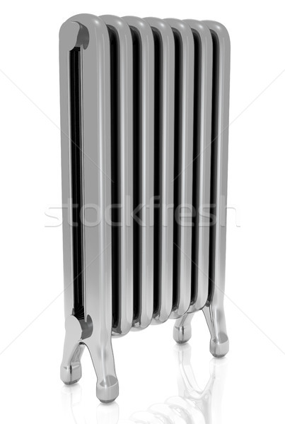 Stock photo: Radiator isolated over a white background