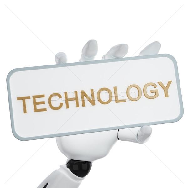 технологий 3D стороны пластина Сток-фото © sommersby