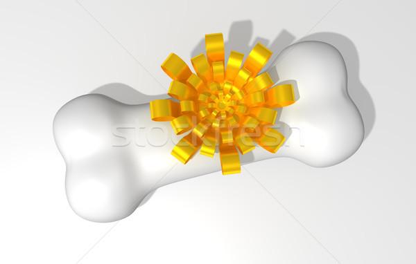 кость лук белый искусства печать золото Сток-фото © sommersby