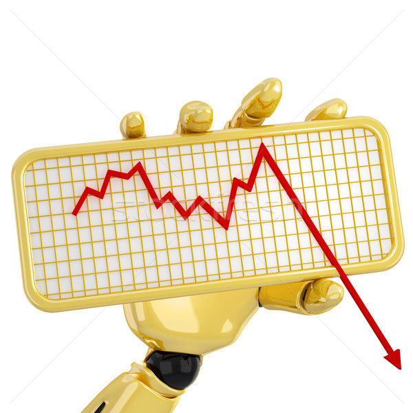 Graph going down Stock photo © sommersby