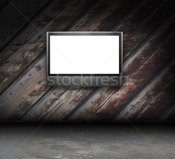 Гранж интерьер фоторамка стены аннотация Сток-фото © sommersby