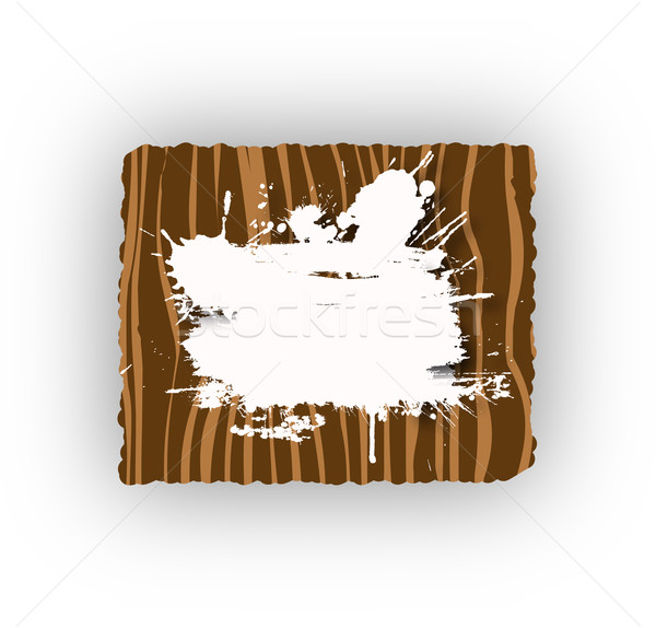 Wooden grunge frame Stock photo © sommersby