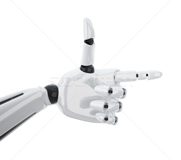 Pointing 3d robotic hand. Stock photo © sommersby