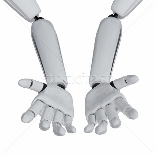 Nagylelkűség 3D robotikus pálmafák kéz ipar Stock fotó © sommersby