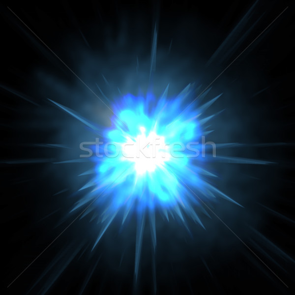 Blue glowing abstract background Stock photo © sommersby