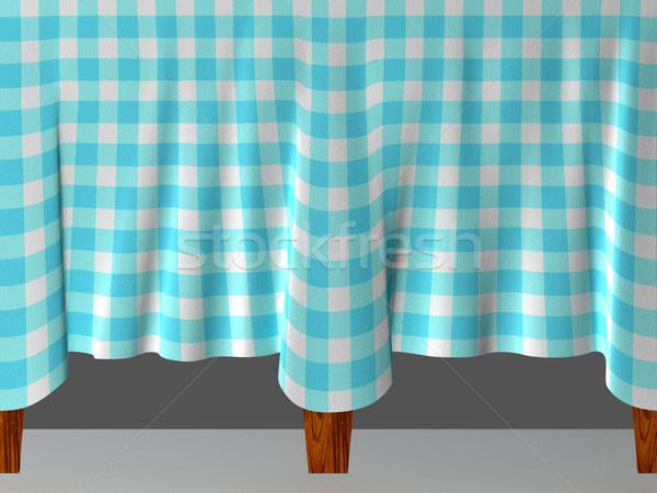 скатерть синий древесины таблице Сток-фото © sommersby