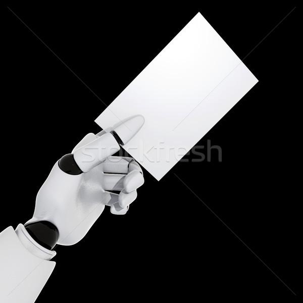 Сток-фото: визитной · карточкой · стороны · бизнеса · бумаги · связи