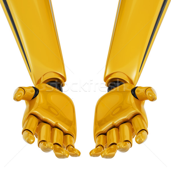 3d robotic palms turned up. Stock photo © sommersby