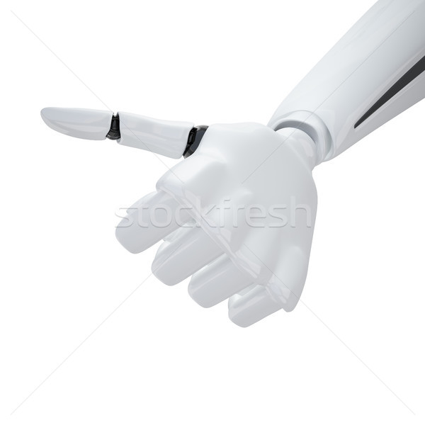 3d robotic hand giving the 'yeah' sign. Stock photo © sommersby