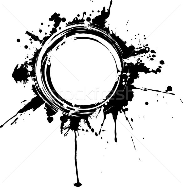 Circular grunge frame. Stock photo © sommersby