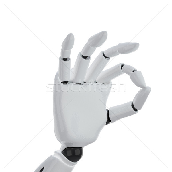 a 3d robotic hand giving the 'okay' sign Stock photo © sommersby