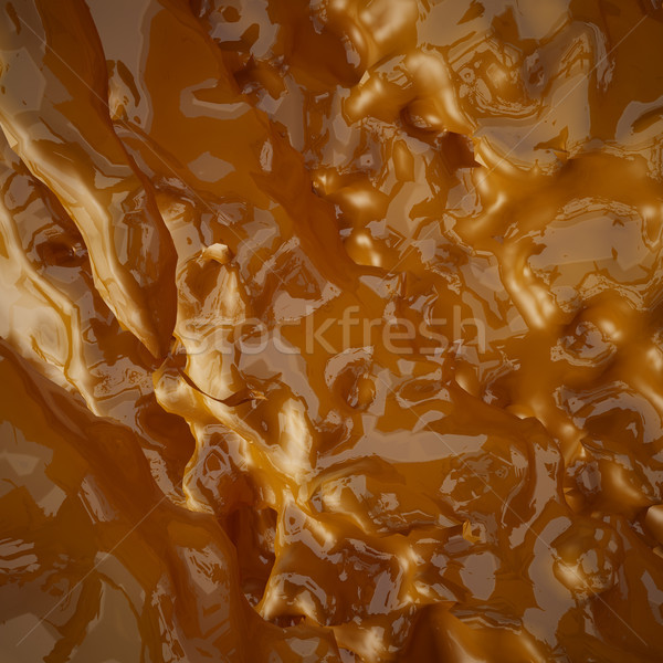 Flowing liquid smooth golden background Stock photo © sommersby
