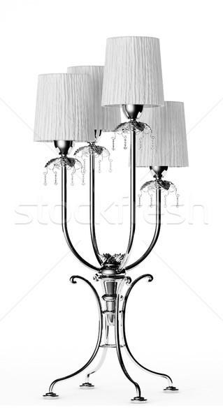 Lüks büro lamba ayakta beyaz Stok fotoğraf © sommersby