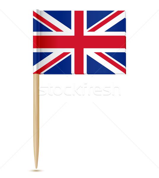 Великобритания флаг бумаги карта крест красный Сток-фото © sonia_ai