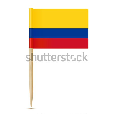 Colombia flag toothpick on white background Stock photo © sonia_ai