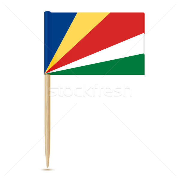 Flag of Seychelles. Swedish Flag toothpick Stock photo © sonia_ai