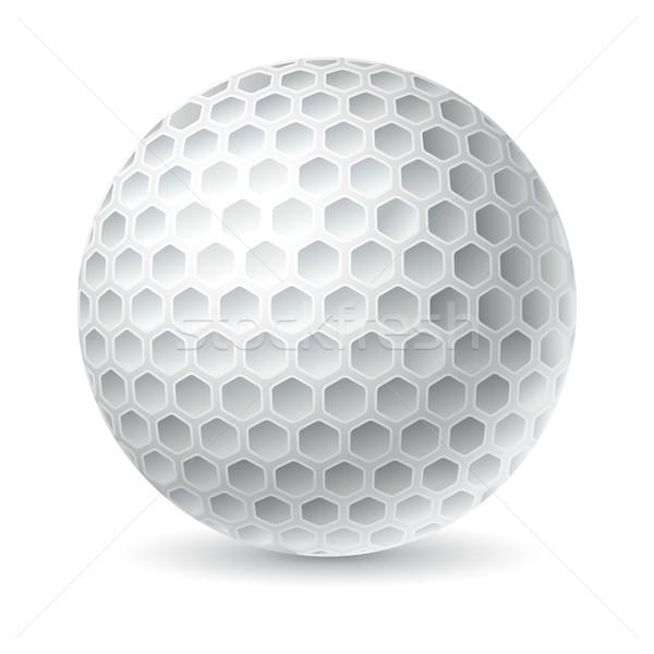 мяч для гольфа гольф спорт дизайна Живопись черный Сток-фото © sonia_ai