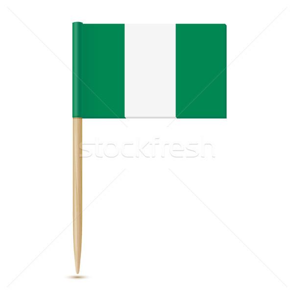 Nigeria vlag papier hout achtergrond land Stockfoto © sonia_ai