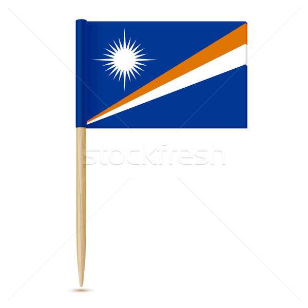 Flag of the Marshall Islands. Swedish Flag toothpick Stock photo © sonia_ai