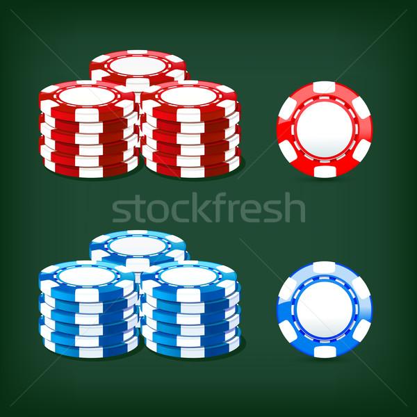чипов казино иллюстрация икона фон Сток-фото © sonia_ai