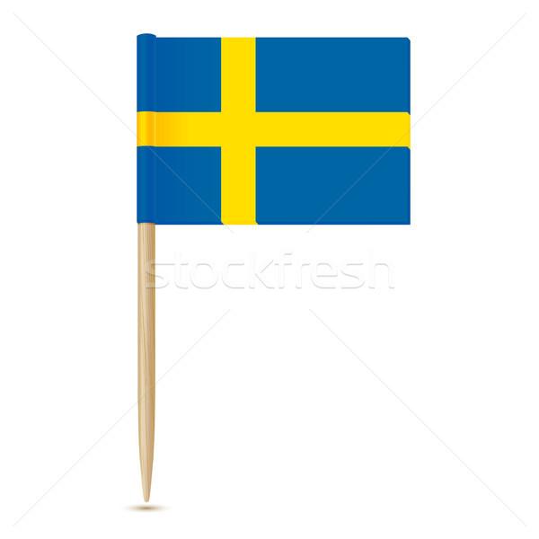 Zweden vlag geïsoleerd witte papier Europa Stockfoto © sonia_ai