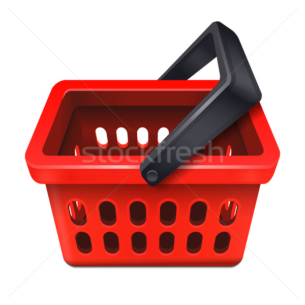 Red shopping basket icon 10eps Stock photo © sonia_ai