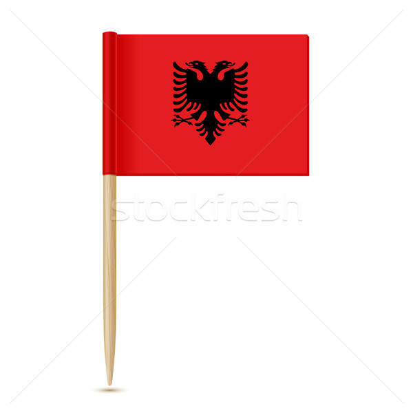 Albania flag toothpic 10eps Stock photo © sonia_ai
