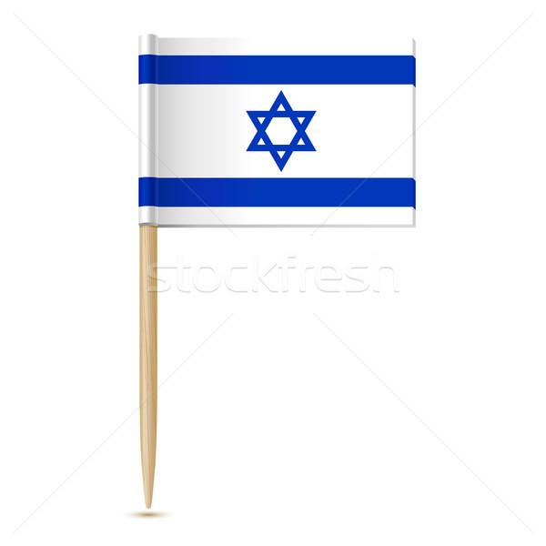 Vlag Israël wereld achtergrond teken Blauw Stockfoto © sonia_ai