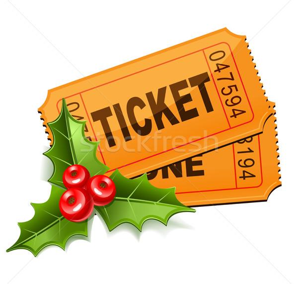Рождества продажи билеты омела белая фильма зима Сток-фото © sonia_ai