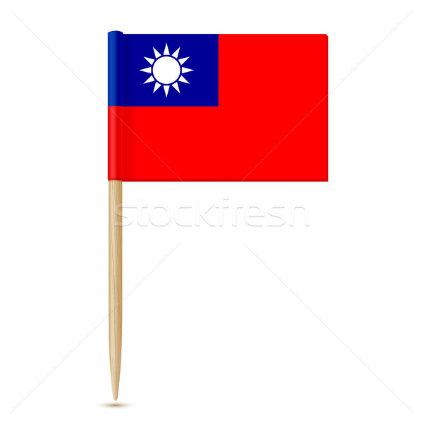 Republiek China vlag kaart wereld teken Stockfoto © sonia_ai