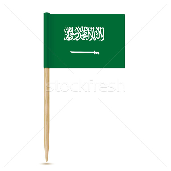 Flag of Saudi Arabia. Flag toothpick Stock photo © sonia_ai