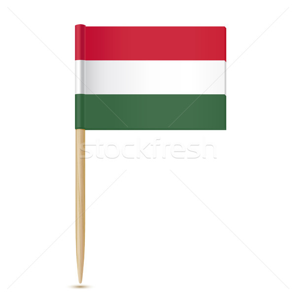 Vlag Hongarije witte teken Europa land Stockfoto © sonia_ai