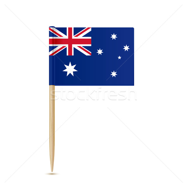 Australia flag toothpick on white background Stock photo © sonia_ai