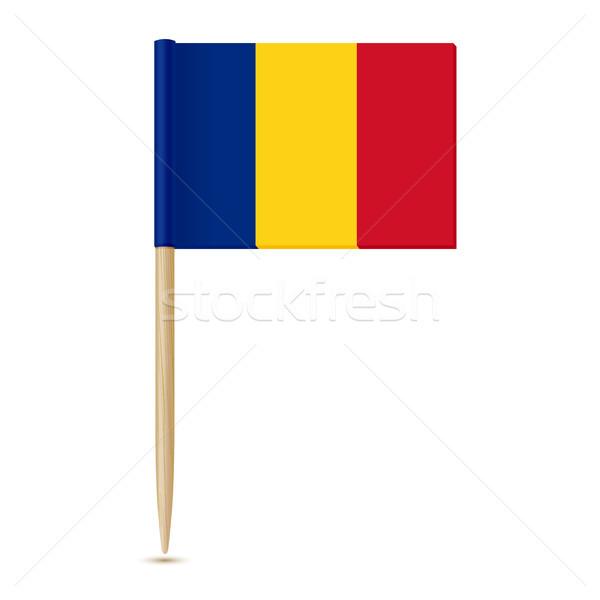 Romênia bandeira branco negócio madeira assinar Foto stock © sonia_ai