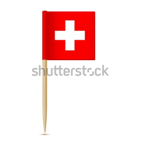 флаг Швейцария бумаги крест красный белый Сток-фото © sonia_ai