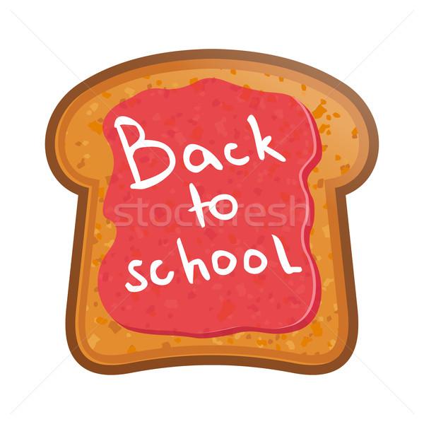 School jam terug naar school voedsel Maakt een reservekopie ontbijt Stockfoto © sonia_ai
